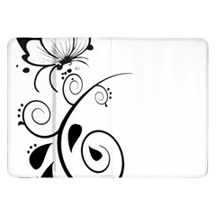 Floral Butterfly Design Samsung Galaxy Tab 8 9  P7300 Flip Case