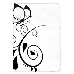 Floral Butterfly Design Removable Flap Cover (large)