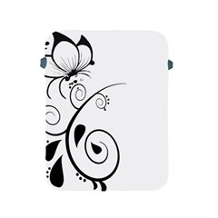 Floral Butterfly Design Apple iPad Protective Sleeve