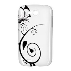 Floral Butterfly Design Samsung Galaxy Grand GT-I9128 Hardshell Case