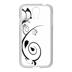 Floral Butterfly Design Samsung Galaxy S4 I9500/ I9505 Case (white)