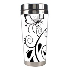 Floral Butterfly Design Stainless Steel Travel Tumbler