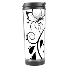 Floral Butterfly Design Travel Tumbler