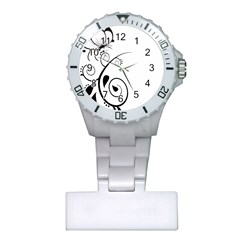 Floral Butterfly Design Nurses Watch