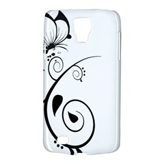 Floral Butterfly Design Samsung Galaxy S4 Active (I9295) Hardshell Case