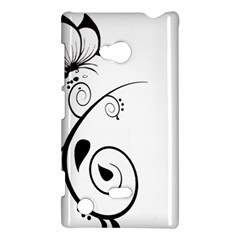 Floral Butterfly Design Nokia Lumia 720 Hardshell Case