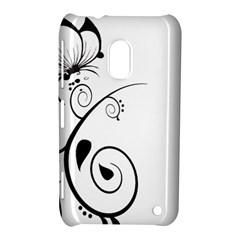 Floral Butterfly Design Nokia Lumia 620 Hardshell Case