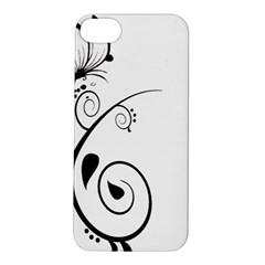 Floral Butterfly Design Apple iPhone 5S Hardshell Case