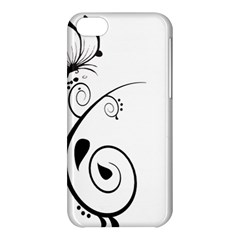 Floral Butterfly Design Apple iPhone 5C Hardshell Case
