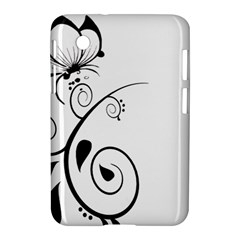 Floral Butterfly Design Samsung Galaxy Tab 2 (7 ) P3100 Hardshell Case