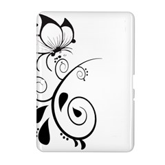 Floral Butterfly Design Samsung Galaxy Tab 2 (10.1 ) P5100 Hardshell Case