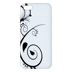 Floral Butterfly Design Iphone 5s Premium Hardshell Case