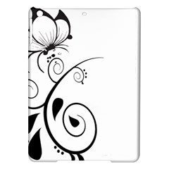 Floral Butterfly Design Apple Ipad Air Hardshell Case