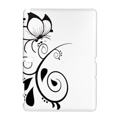 Floral Butterfly Design Samsung Galaxy Note 10 1 (p600) Hardshell Case