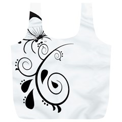 Floral Butterfly Design Reusable Bag (XL)