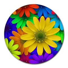 Gerbera Daisies 8  Mouse Pad (round)