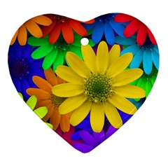 Gerbera Daisies Heart Ornament