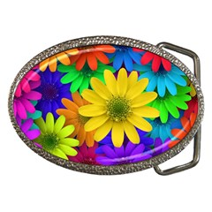 Gerbera Daisies Belt Buckle (Oval)