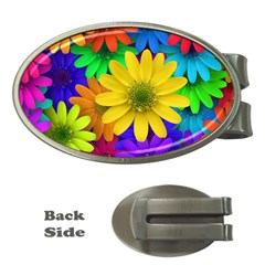 Gerbera Daisies Money Clip (Oval)
