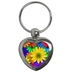 Gerbera Daisies Key Chain (Heart)