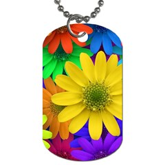 Gerbera Daisies Dog Tag (One Sided)