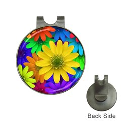 Gerbera Daisies Hat Clip With Golf Ball Marker