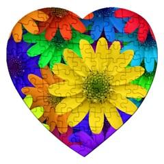 Gerbera Daisies Jigsaw Puzzle (Heart)