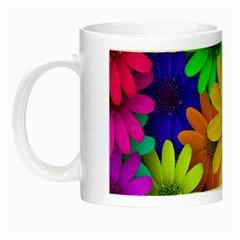 Gerbera Daisies Glow in the Dark Mug