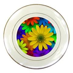 Gerbera Daisies Porcelain Display Plate
