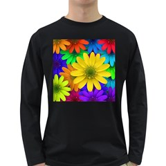 Gerbera Daisies Men s Long Sleeve T-shirt (Dark Colored)