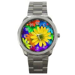Gerbera Daisies Sport Metal Watch
