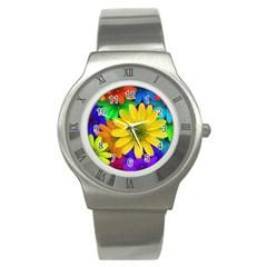 Gerbera Daisies Stainless Steel Watch (Slim)
