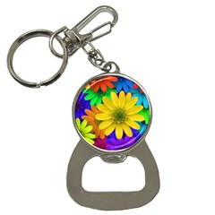 Gerbera Daisies Bottle Opener Key Chain
