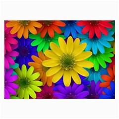 Gerbera Daisies Glasses Cloth (Large, Two Sided)