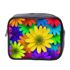 Gerbera Daisies Mini Travel Toiletry Bag (two Sides)