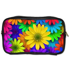 Gerbera Daisies Travel Toiletry Bag (two Sides)