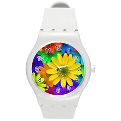 Gerbera Daisies Plastic Sport Watch (Medium)
