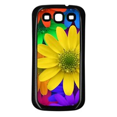Gerbera Daisies Samsung Galaxy S3 Back Case (Black)