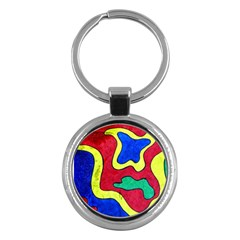 Abstract Key Chain (Round)