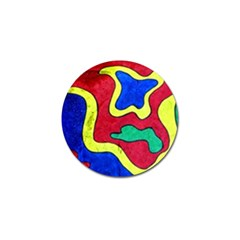 Abstract Golf Ball Marker