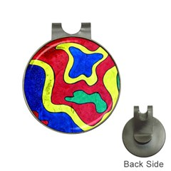 Abstract Hat Clip with Golf Ball Marker