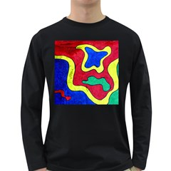 Abstract Men s Long Sleeve T-shirt (Dark Colored)