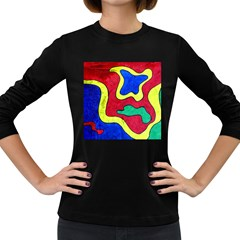 Abstract Women s Long Sleeve T-shirt (Dark Colored)