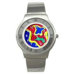 Abstract Stainless Steel Watch (Slim)