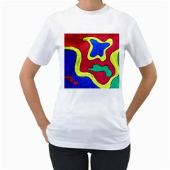 Abstract Women s T Shirt (white)
