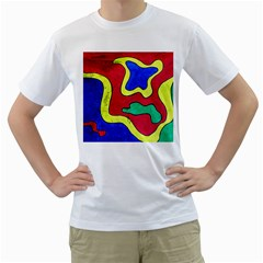 Abstract Men s T-Shirt (White)
