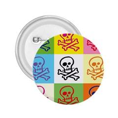 Skull 2.25  Button