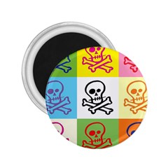 Skull 2.25  Button Magnet