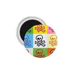 Skull 1 75  Button Magnet