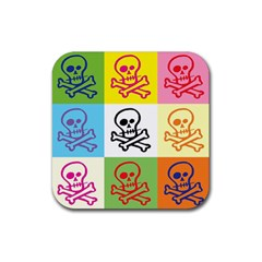Skull Drink Coasters 4 Pack (Square)